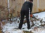Заканчиваем порезку дров