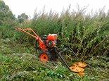 Расчищаем участок от задеревенелой травы