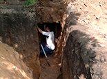 Подкоп под дом для подвода воды